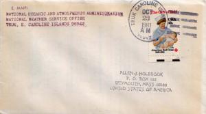 Caroline Islands 18c American Red Cross 1981 Truk, Caroline Islands 96942 to ...