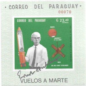 1969    PARAGUAY  - DR. STUHLINGER - SIGNED - MARINER 7   -  MNH