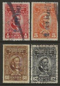 Puerto Rico   Porto Rico 1942-57 Rectified Spirits Revenue #RE33/RE47 Fine Used