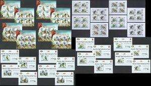 BU15 IMPERF,PERF 2011 BURUNDI FAUNA BIRDS PARROTS PERROQUETS !!! 16KB+16BL MNH