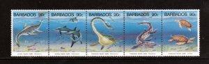 Barbados 855 a-e, F-VF, MNH