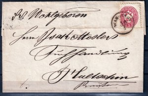 Austria 1865 - 5kr on cover see Scans # 19