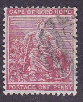 Cape Of Good Hope 1865 Scott Number 16.1d rose Perf-14 Fine/VF/(o) Nice Margins