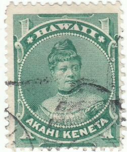Hawaii, Scott #42 - 1c Green - Used
