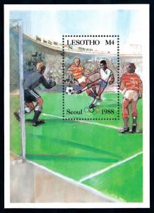 [92227] Lesotho 1987 Olympic Games Seoul Football National Flag Error Sheet MNH