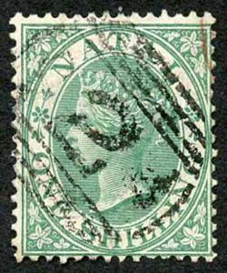 Natal SG25 1/- green wmk crown cc