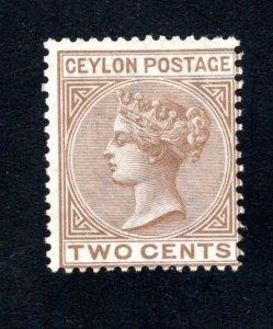 Ceylon #63,  F/VF, Unused, CV $37.50 ....  1290048