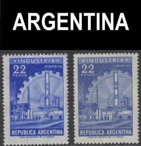 Argentina Scott 699-700 F to VF mint OG.