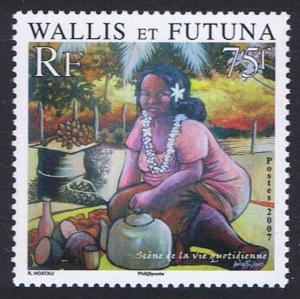 Wallis and Futuna Daily Life 1v SG#911