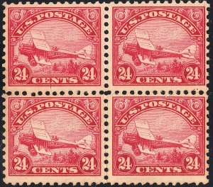 U.S. C6 F+VF NH Blk/4 (61119)