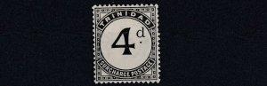 TRINIDAD  1905 - 06  SG   D13  4D    SLATE BLACK  MH