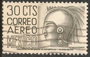 MEXICO C220B, 30cents 1950 Definitive 2nd Printing wmk 300 USED, F-VF (1107)