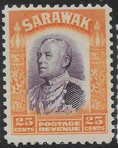 SARAWAK SG117 1934 25c VIOLET & ORANGE MTD MINT