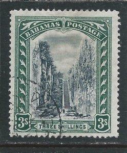 BAHAMAS 1901-03 3s BLACK & GREEN FU SG 61 CAT £65