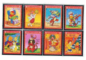 TURKS & CAICOS ISLANDS - Sc 1213-22 MNH  DISNEY Winnie the Pooh - 2 scans - 1996