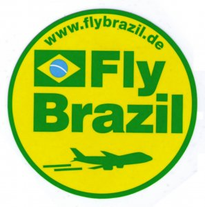FLY BRAZIL AIRLINE OLD LUGGAGE LABEL, STICKER, CINDERELLA