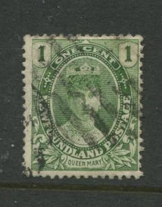 Newfoundland - Scott 104- QV Definitive - 1911 - FU - Single 1c Stamp