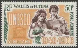 WALLIS AND FUTUNA 1966 Sc C26  MNH 50f  VF UNESCO Anniversary