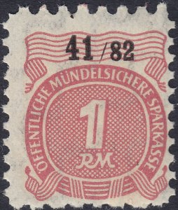 Stamp Germany Revenue WW2 Fascism War Secure Insurance Fiscal 01 MNH