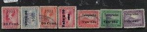 Nicaragua Telegraph Stamps Lot of Seven VFU (10een)