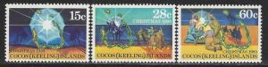 Cocos Islands Scott # 53 - 55, mint nh