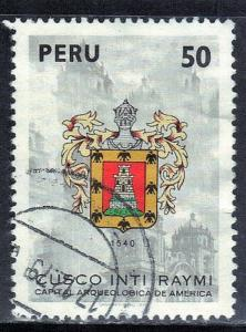 PERU SC# 701 USED 1979 50s ARMS OF CUSCO SEE SCAN