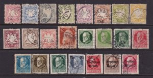 Bavaria a small lot of unsorted Shield & King unsorted