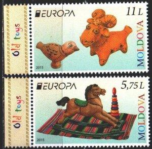 Moldova. 2015. 904-5. Children's toys, europe-sept. MNH.