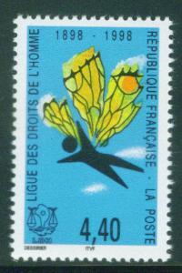 FRANCE Scott 2660 Yvert 3149 MNH** 1998 Human Rights