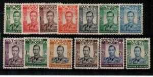 Southern Rhodesia Scott 42-54 Mint hinged (Catalog Value $58.00)