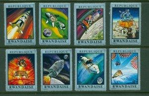 Rwanda #374-78 (1970 Space exploration set) VFMNH CV $5.25