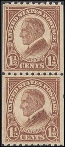 605 Mint,OG,NH... Line Pair... SCV $7.00