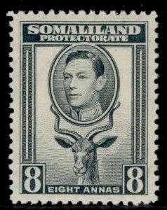 SOMALILAND PROTECTORATE GVI SG99, 8a grey, M MINT.