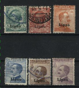 Italy-Lisso #2-3,5-8   Mint & used 1912-22 PD