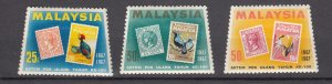 J27483 1967 malaysia set mh #48-50 stamps