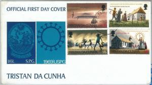 70910 - TRISTAN DA CUNHA - Postal History -  FDC COVER 1969: Religion SHIPS