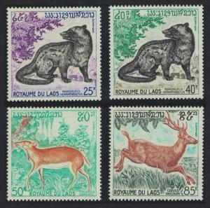 Laos Wild Animals 4v SG#331-334 SC#219-222