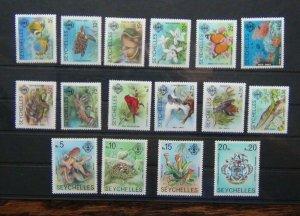Seychelles 1977 Marine Life Values to 20r MNH