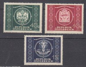 J29506, 1949 austria set mh #565-7 designs