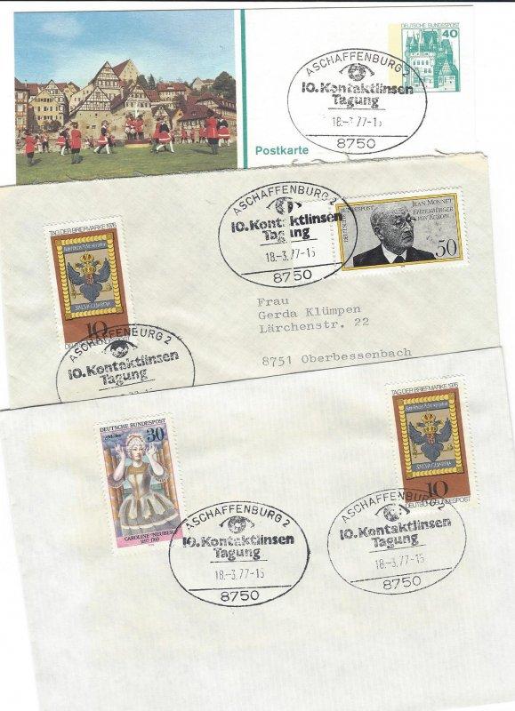 BRD Commemorative Cancel 10.Kontaktlinsen Tagung 3 covers