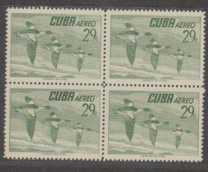 Cuba Scott #C141 Airmail Stamp - Mint Block of 4