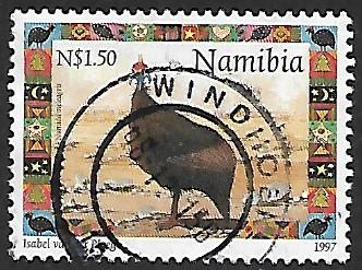 Namibia # 874 - Helmeted Guineafowl - used   [Kl.Zw]