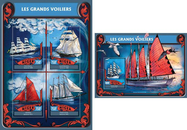 Tall Ships Christian Radich Transport Niger MNH stamp set
