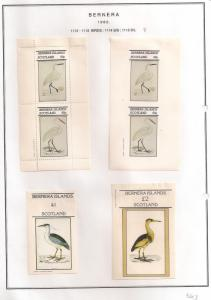 SCOTLAND - BERNERA - 1982 - Birds (08) - 2v Perf, Imperf, Min, D/L Sheets - MLH