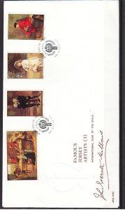 Jersey, Scott cat. 213-216. Year of the Child issue. First day cover. ^