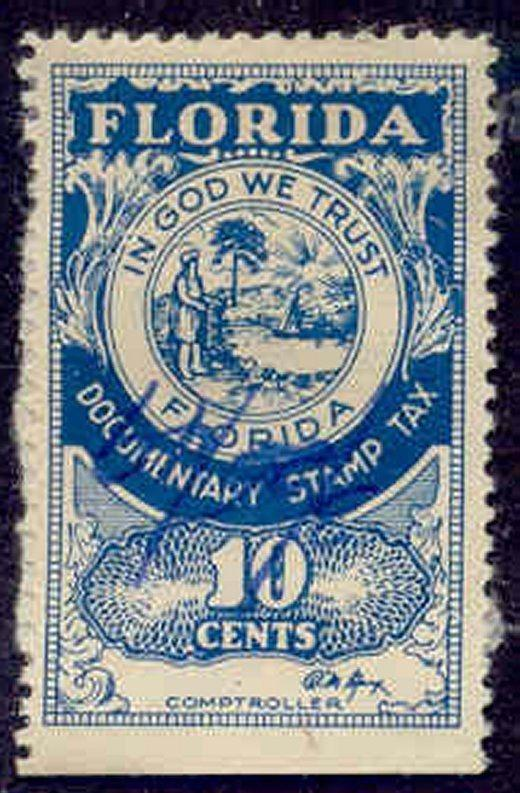 Florida State Revenue Stamp 10c Documentary Tax # D21