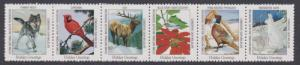 National Wildlife Federation Strip of 6 Diff 1996 Wildlife Stamps  I Combine S/H