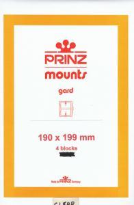 PRINZ CLEAR MOUNTS 190X199 (4) RETAIL PRICE $10.50