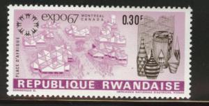 RWANDA Scott 226 MH* Expo 1967 Drum stamp