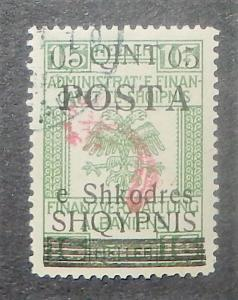 Albania 92. 1919 5q on 16h Green, comet control, CTO